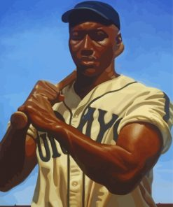 Josh Gibson Player paint by numbers