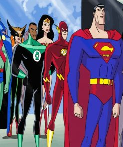 Justice League Heroes Paint by numbers