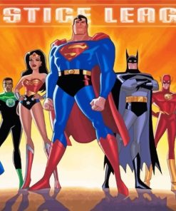 Justice League Paint by numbers