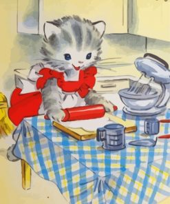 Kitty Baking Paint by numbers