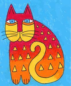 Laurel Burch Cat Art Paint by numbers