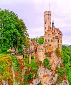 Lichtenstein Castle Germany Paint by numbers