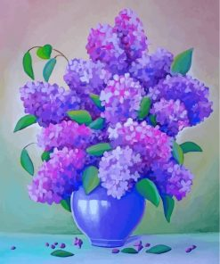 Lilac Vase Still Life Paint by numbers