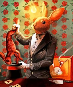 Magician Rabbit Paint by numbers