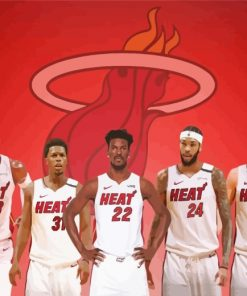 Miami-Heat-paint-by-numbers