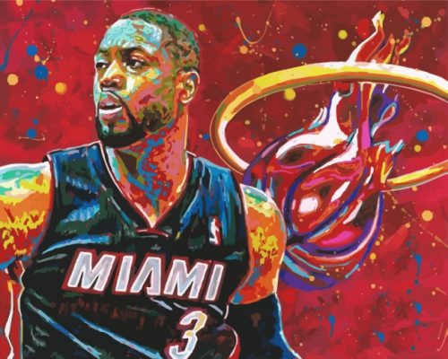 Miami-Heat-player-art-paint-by-numbers