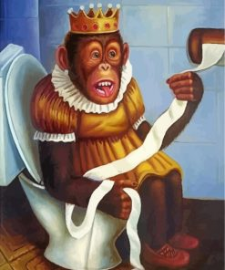 Monkey Queen In WC Paint by numbers