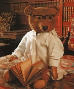 Nerdy Teddy Bear Paint by numbers