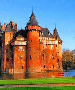 Netherlands Castle De Haar Paint by numbers