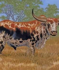 Nguni Bull Paint by numbers