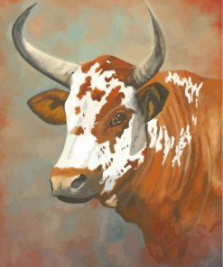 Nguni Cow Paint by numbers