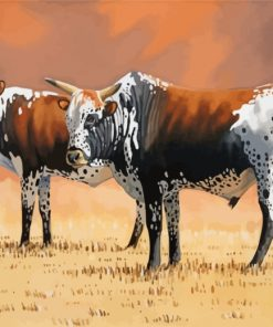 Nguni Cows Paint by numbers