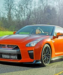 Nissan-GT-R-paint-by-number
