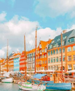 Nyhavn-denmark-paint-by-numbers