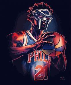 Philadelphia-76ers-joel-embid-paint-by-numbers