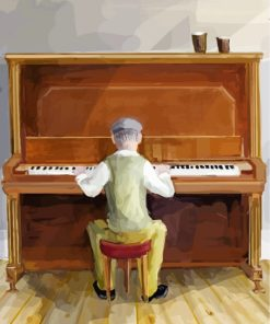 Piano Player Paint by numbers