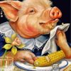 Pig Eating Corn Paint by numbers