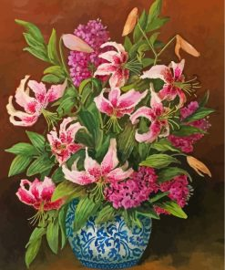 Pink Lilies Still Life Paint by number