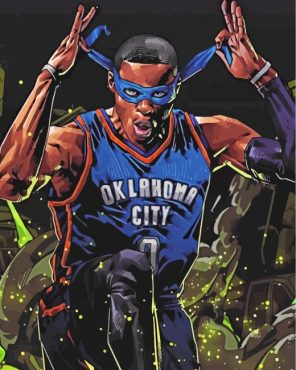 Player Russell Westbrook Paint by numbers
