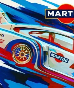 Porsche Martini Car Art Paint by numbers