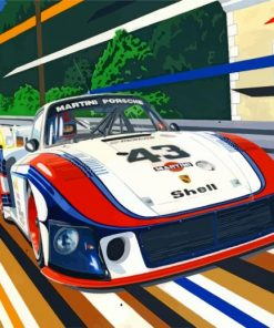 Porsche Martini Race Car Paint by numbers