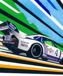 Race Car Paint by numbers