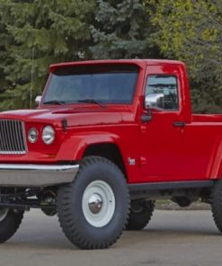 Red Jeep J12 Concept Car Paint by numbers