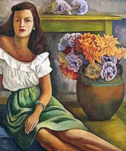 Retrato De Mujer Diego Rivera Paint by numbers