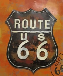 Route 66 Paint by numbers