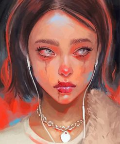 Sad Girl Paint by numbers