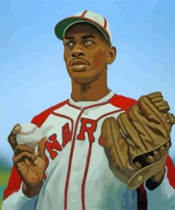 Satchel Paige Baseball Player Paint by numbers