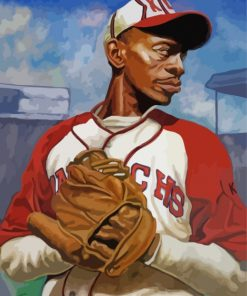 Satchel Paige Baseball Paint by numbers