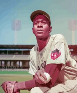 Satchel Paige Player Paint by numbers