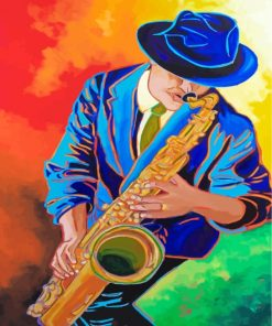 Saxophone Man Paint by numbers