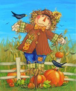 Scarecrow In Farm Paint by numbers