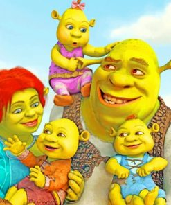Shrek-and-His-Family-paint-by-numbers