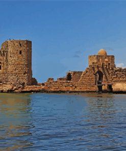 Sidon Sea Castle Lebanon Paint by numbers