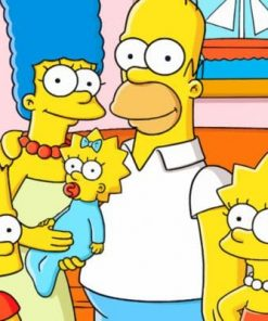 The Simpsons Family Paint by numbers