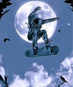 Skater Astronaut Paint by numbers