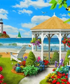 Spring Garden By Beach Paint by numbers
