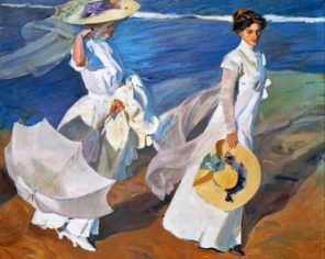 Women Walking On The Beach Paint by numbers