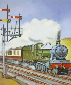 Steam Train Paint by numbers