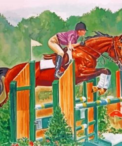 Steeplechase Horse Racing Paint by numbers