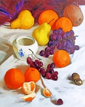 Still Life Fruits Paint by numbers