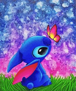 Stitch And Butterfly Paint by numbers