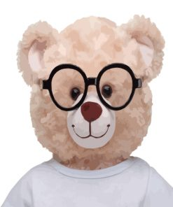 Teddy Bear With Glasses Paint by numbers