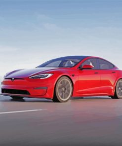 Tesla-car-paint-by-numbers