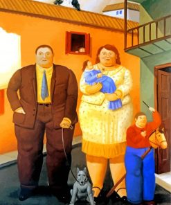 The Fat Family Paint by number