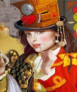 The Magician Girl Paint by numbers