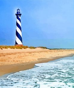 The Cape Hatteras Light Station Paint by numbers